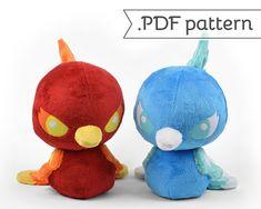 Phoenix Bird Plush .pdf Sewing Pattern
