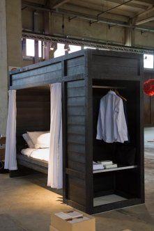 Social Unit, special bed/closet design for Dutch Salvation Army.