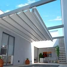 Awning patio pergola covers are in fashion now and people like to make this awning pergola in their house to have shelter against rain and sunshine. Awnings are attached to the house to give protection from the sun light but pergola is detached from Diy Pergola, Retractable Pergola, Deck With Pergola, Wooden Pergola, Covered Pergola, Pergola Shade, Patio Roof, Pergola Kits, Backyard Patio