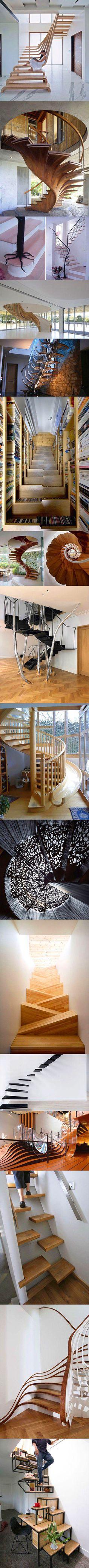 Unique staircases.