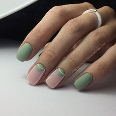 Nail Art Designs In Every Color And Style – Your Beautiful Nails Stylish Nails, Trendy Nails, Cute Nails, Nail Art Designs, French Nail Designs, Beauty And More, Design Ongles Courts, Mint Nails, Green Nails