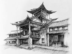 From @haoyu_he #archfolios #sketch market square of Shaxi a cultural treasure of the ancient Tea Hourse Road.  #archfolios #archisketcher #arqpedia #urbansketch #arqsketch #arch_more#arch_sketch1 #arch_sketch #archisketcher #sketch_arq #sketch_collector #ar_sketch #art_spotlight #_world_arts #architecturelovers #architecturestudent #arch_cad #arch_land #artspotlight #建筑 #yunnan