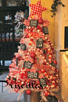 Priscillas: Candy Cane Kitchen Tree