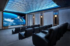 Gorgeous home cinema in an Orlando Florida vacation rental.