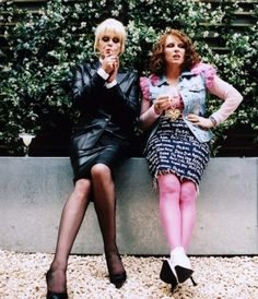 Patsy and Edina, looking Fab as always, from the funniest show ever.  Absolutely Fabulous.