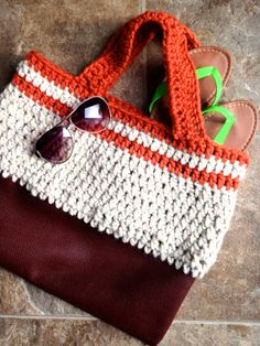 25 off Beach Bag Gotta have this Leather and by STITCHandCABOODLE, $36.75