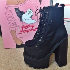 Christina with the Jeffrey Campbell Syndicate Platform Boot || Get the boots: http://www.nastygal.com/sale-shoes/jeffrey-campbell-syndicate-platform-boot?utm_source=pinterest&utm_medium=smm&utm_term=ngdib&utm_content=omg_shoes&utm_campaign=pinterest_nastygal