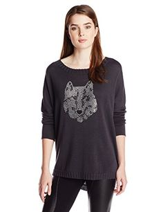 Chaser Women's Wolf Long Sleeve Dolman Pullover Sweater, Coal, Small CHASER $97.00 & FREE Shipping http://smile.amazon.com/dp/B00MD09AL0/ref=cm_sw_r_pi_dp_0dSEub1HMTQSN