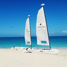 Hobie Cats at the Seven Stars Resort on Grace Bay