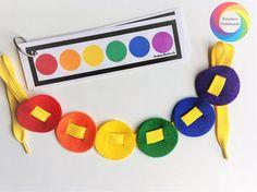 Felt Lacing Beads Busy Bag Fine Motor Activities Montessori