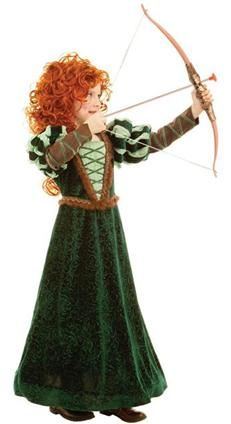Celebrate the Disney movie Brave with this beautiful Princess Merida dress. Princess Merida, a Scottish princess who is an ace with a bow and arrow, competes against possible suitors for her own hand in marriage. Princess Merida celebrates the sprit of Costume Princesse Disney, Disney Princess Costumes, Disney Costumes, Merida Brave Costume, Merida Dress, Brave Merida, Princess Dress Up, Princess Girl, Brave Princess