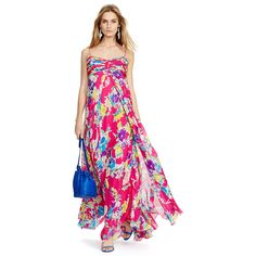 Floral Silk Chiffon Maxidress