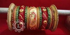 Bridal Bangles, Bridal Jewelry, Bangle Bracelets, Jewelry Necklaces, Bridal Chuda, Big Fat Indian Wedding, Temple Jewellery, Bridal Lehenga, Chokers