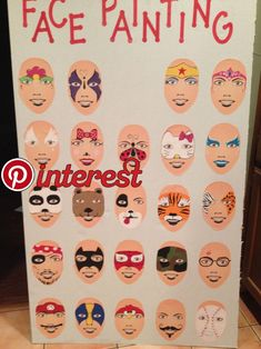 Simple face painting designs are not hard. Many people think that in order to have a great face painting creation, they have to use complex designs, rather then Easy Face Painting Designs, Face Painting Tutorials, Painting Patterns, Painting For Kids, Art For Kids, Simple Face, Maquillage Halloween, Beginner Painting, Partys