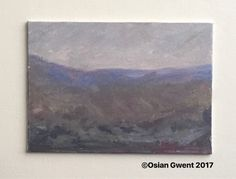 Oil landscape painting of the Welsh Black Mountains