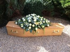 Rose and Lily Casket Spray