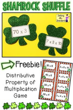 Distributive Property of Multiplication Game Freebie Distributive Property Of Multiplication, Properties Of Multiplication, Multiplication Games, Math Games, Math Stations, Math Centers, March Themes, Reading Themes, Class Games