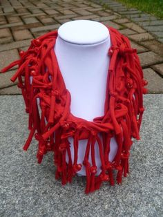 Shabby Chic Sliced Knotted and Beaded Cowl T por mulberrymoosetoo, $10.00