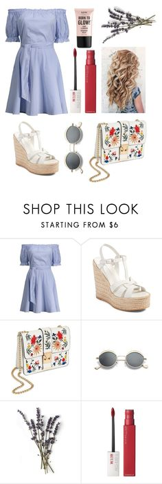 """""""Untitled #268"""" by dalia-maria-1 ❤ liked on Polyvore featuring Yves Saint Laurent, Miss Selfridge, Maybelline and NYX"""
