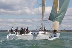 The Beneteau First 40.7 yacht 'Lancelot' racing during Cowes Week 2013