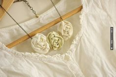 Wow - Fabric flower necklace | CHECK OUT MORE IDEAS AT WEDDINGPINS.NET | #weddings #rustic #rusticwedding #rusticweddings #weddingplanning #coolideas #events #forweddings #vintage #romance #beauty #planners #weddingdecor #vintagewedding #eventplanners #weddingornaments #weddingcake #brides #grooms #weddinginvitations