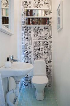 New Bath Room Wallpaper Ideas Wallpapers Laundry Rooms 34 Ideas Wc Decoration, Toilet Room, Geek Decor, Small Toilet, Bathroom Tile Designs, Bath And Beyond Coupon, Aesthetic Room Decor, Room Wallpaper, Wallpaper Ideas