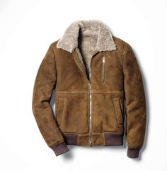 Men's Pilot Shearling Jacket (Mist) - product_image_alt_text_2 ...