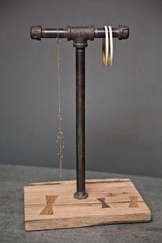 jewelry display made with pipe