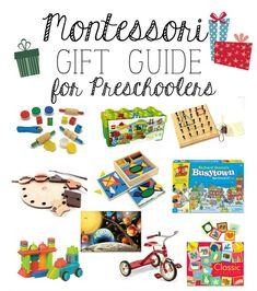 Montessori Gift Guide for Preschoolers