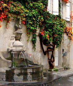 """Nostradamus"" fountain on Rue Nostradamus, St Remy-de-Provence"