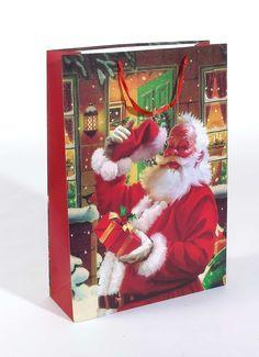 Riesendekotragetasche mit Weihnachtsmannmotiv