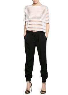 Pantalón baggy textura