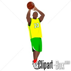 CLIPART BASKET PLAYER