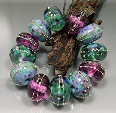 HANDMADE LAMPWORK GLASS Beads Donna Millard by DonnaMillard, $48.00