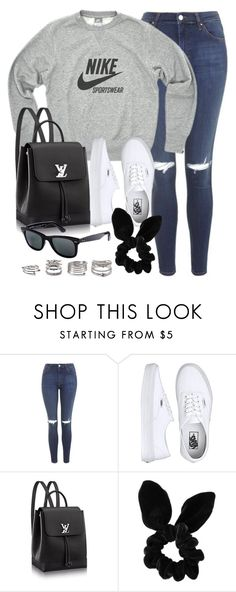 """Style #11548"" by vany-alvarado ❤ liked on Polyvore featuring Topshop, Vans, Ray-Ban and Forever 21"