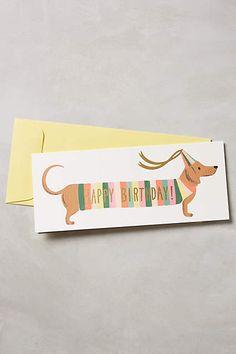 Dachshund Happy Birthday Card - anthropologie.com