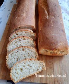 Najprostszy chleb pszenny to banalny przepis na szybki chleb na drożdżach. Zawsze wychodzi udany, koniecznie go wypróbuj a będziesz do niego wracać. Bread, Food, Breads, Baking, Meals, Yemek, Sandwich Loaf, Eten