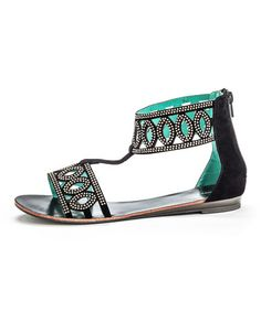 Another great find on #zulily! Black Sparkle Zone Gladiator Sandal by Henry Ferrera #zulilyfinds $24.99, usually 40.00