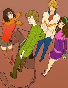 Scooby-Doo anime style