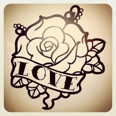 Old School Tattoo Rose Wall Decal by VorssaInk on Etsy, €34.00