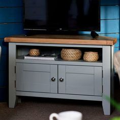 huge discount d8f16 1c47f Lucy Cane Grey Wide TV Stand | House Stuff in 2019 | Tvs ...