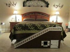 """""""View this Great . Discover & browse thousands of other home design ideas on Zillow Digs. Dog Stairs For Bed, Dog Ramp For Bed, Pet Ramp, Dog Bedroom, Master Bedroom, Dog House Bed, Dog Steps, Dog Furniture, Furniture Making"""
