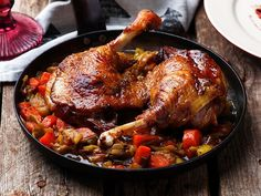 Braised Duck Legs by Зоряна Ивченко on South African Desserts, South African Dishes, South African Recipes, Duck Leg Recipes, Oven Recipes, Chicken Recipes, Dinner Recipes, Confit Recipes, Braised Duck