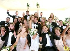 Lauren Conrad and her entire bridal party wear Solemates at her wedding