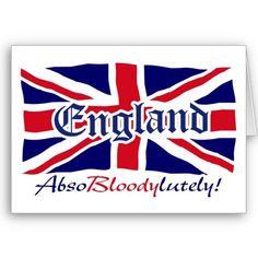 England AbsoBloodylutely Flag Sticker (Rectangular on imgfave Best Of British, British Things, British Boys, England Uk, London England, Birmingham England, Big Ben, Britain's Got Talent, Union Flags