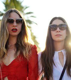 #Coachella diary featuring the stylish and super talented Haim sisters // #festival #fashion