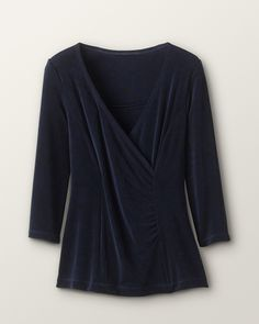 This top would go with anything, doesn't wrinkle, and can be casual or dressy. Perfect for travel.