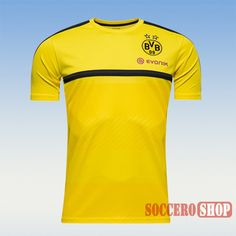 New Casual Best Borussia Dortmund 2016 2017 Yellow Training Jersey Slim Fit  Personalized Soccer Training 28d54937b0d24