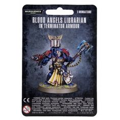 Blood Angels Librarian In Terminator Armour by Games Workshop (Direct Only)