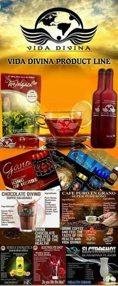 Vida Divina Product Line!! Organic Products For A Healthy Lifestyle!! www.theresalindsay.vidadivina.com
